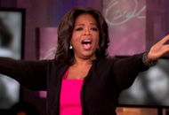 Oprah introduces a guest