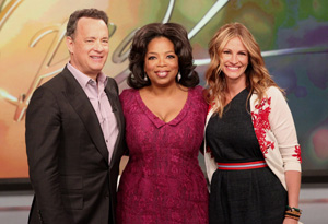 Tom Hanks, Oprah and Julia Roberts