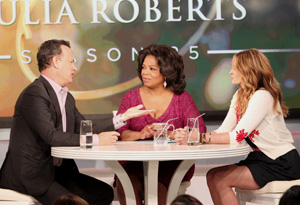 Tom Hanks, Oprah, and Julia Roberts