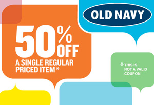 photo about Old Navy Printable Coupon identified as Outdated Armed service: 50% off Just one Products Printable Coupon $1 Turn Flops