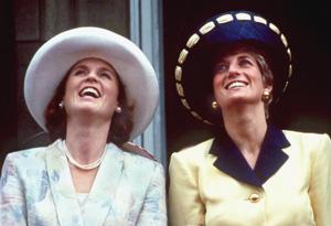 Sarah Ferguson and Prince Diana