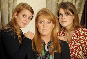 Sarah Ferguson and her daughters, Beatrice and Eugenie