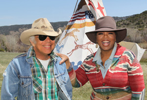 Oprah and Ralph Lauren at the Double RL Ranch