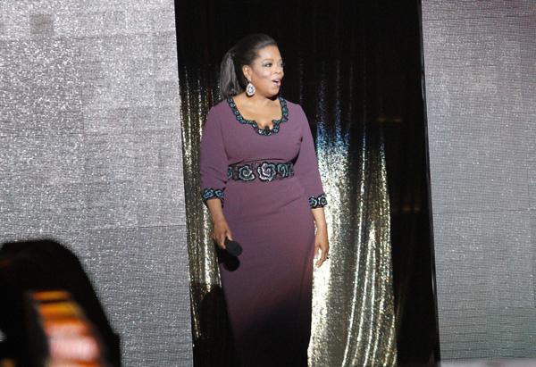 Oprah walks out