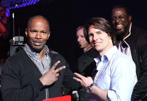Jamie Foxx and Tom Cruise