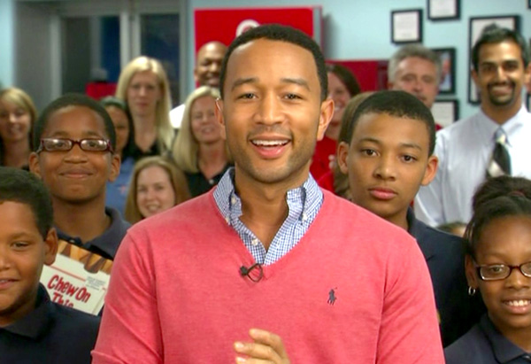 John Legend at the Believe School in New Orleans