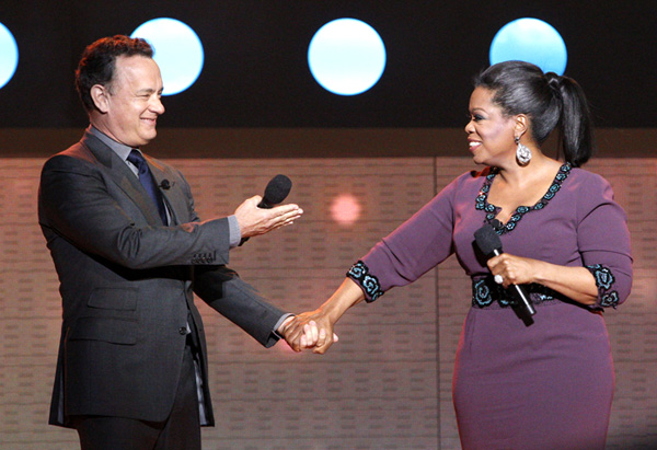 Tom Hanks and Oprah Winfrey