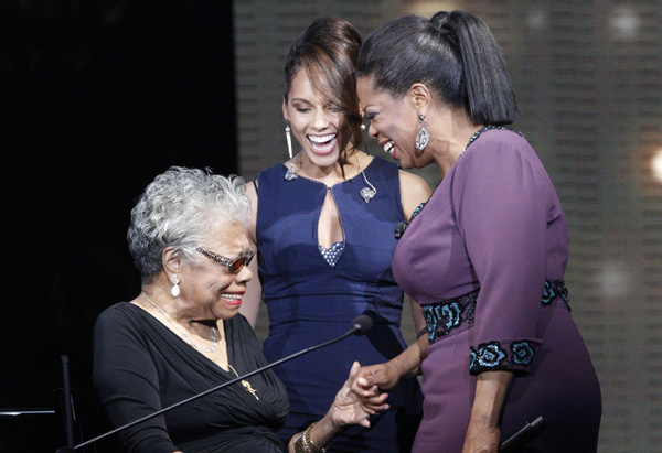 Alicia Keys, Dr. Maya Angelou and Oprah