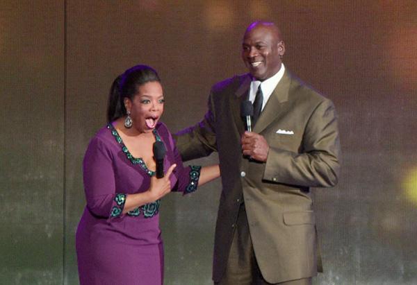 Michael Jordan and Oprah