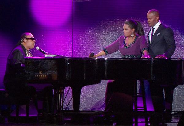 Jamie Foxx, Oprah and Stevie Wonder