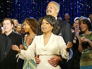Stedman Graham and Oprah at her 50th birthday bash