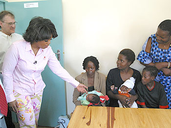The Chelstone Health Clinic tries to prevent the transmission of HIV between mothers and children.