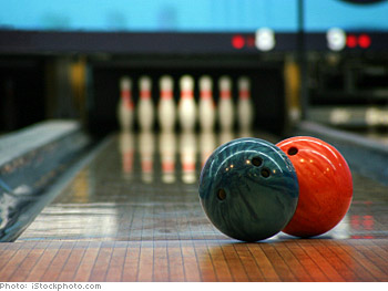 Spend a rainy day at a bowling alley