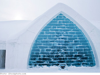 Experience an ice hotel.