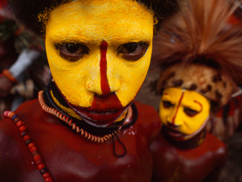 A Huli wigman in Papua New Guinea