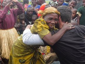 Barton Brooks with the people of Uganda