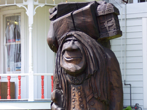 Troll carving  in Mount Horeb