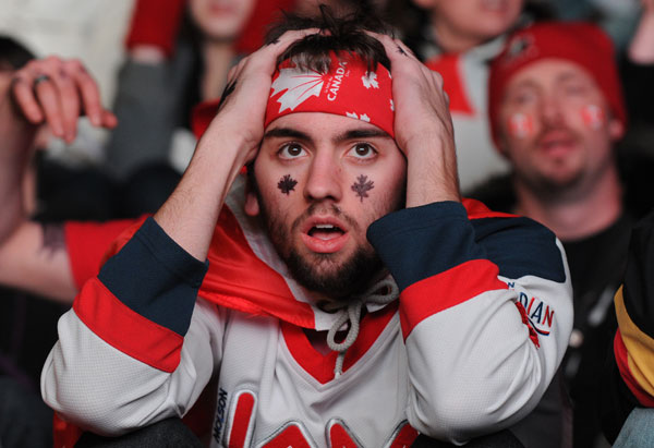 Disappointed Canadian fan