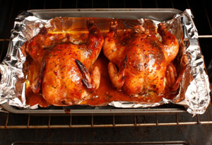 Cook whole chickens instead of precut pieces.
