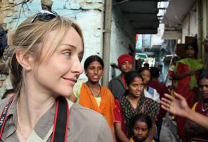 Alexandra Cousteau visits a community near Delhi, India.