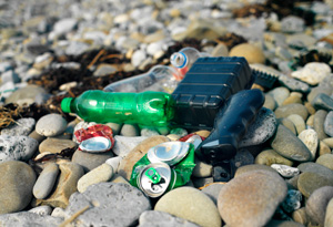 Plastic garbage clogs our rivers and oceans.