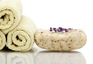 Bars of soap are less wasteful than body wash in bottles.