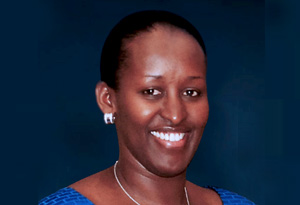 Th first lady of Rwanda Jeannette Kagame