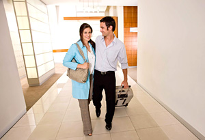 Carry-on luggage saves money, time and jet fuel.