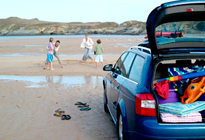 Take unneeded items out of your car before a road trip.