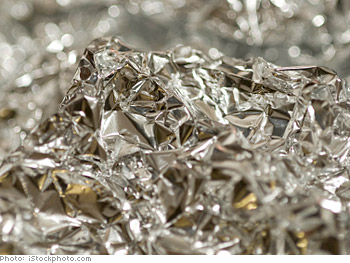 Buy recycled aluminum foil.