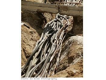 Underground geothermal wires