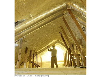 Attic spray insulation