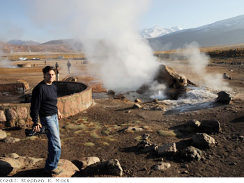 Dr. Oz checks out geysers in Chile.