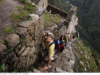 Waynu Picchu's stairway to heaven