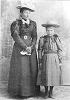 Emily Fredieu and daughter Mary Billes