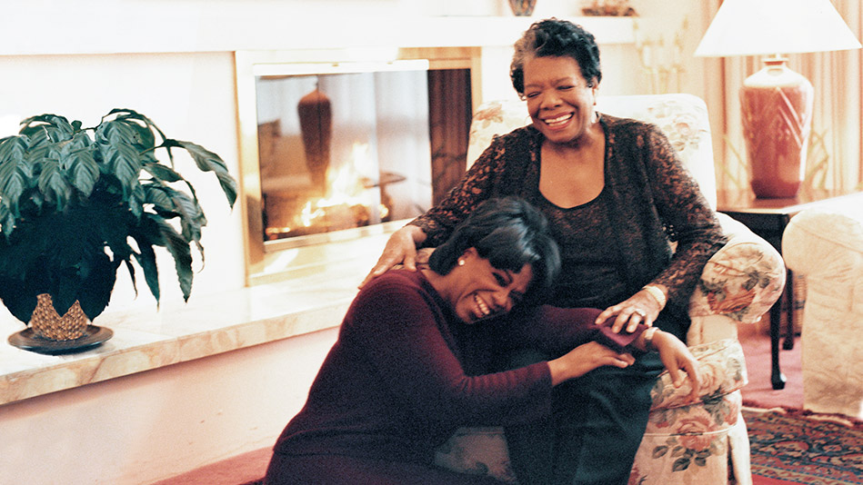 Oprah and Maya Angelou
