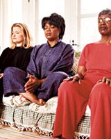 Oprah and friends meditating