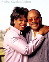 Oprah and Quincy Jones