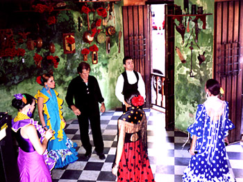 Antonio and flamenco dancers