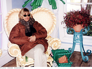 Fashion editor Sibilla Patrizi takes a cat nap