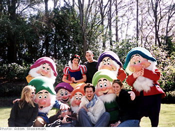 Photo crew with Snow White and the Seven Dwarves