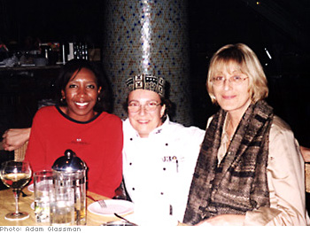 Disney public relations manager Veronica Clemons, Sibilla Patrizi and the chef
