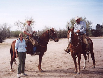 Fashion Editor Sibilla Patrizi and her cowboys