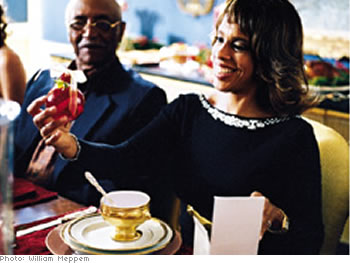 Gayle King and Calvin Eddins
