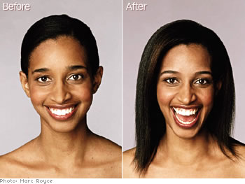 Sabrina Regan, assistant photo editor of O Magazine's eyebrow makeover.