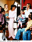 Oprah and Kathryn Sansone with children