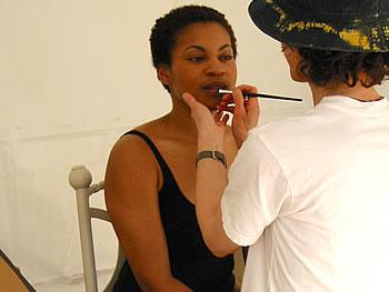 Makeup artist Lea Siegal