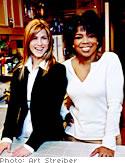 Jennifer Aniston with Oprah