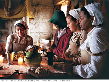 Dinner with one of the colonial families