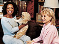 Oprah and Barbara Walters